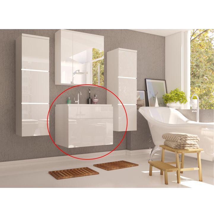 KONDELA Mason WH 13 kúpeľňová skrinka pod umývadlo biela