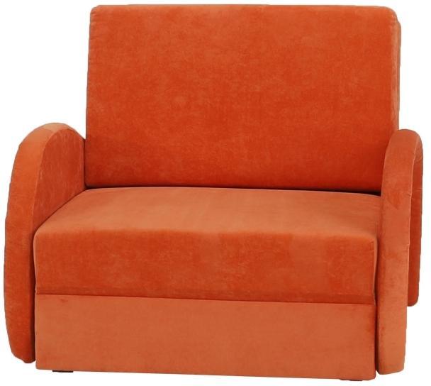 KONDELA Mili 1 rozkladacie kreslo s úložným priestorom oranžová
