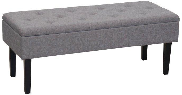 KONDELA Multo taburetka s úložným priestorom sivá