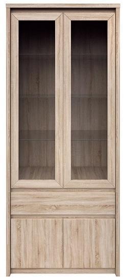 KONDELA Norty Typ 3 vitrína dub sonoma