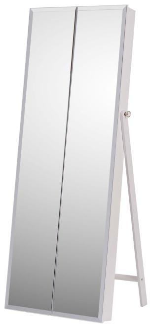 KONDELA Oneon stojace zrkadlo biela