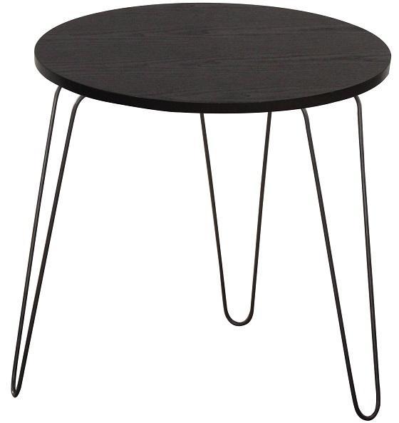 KONDELA Ronin príručný stolík čierny dub / čierna