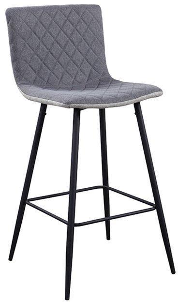 KONDELA Torana barová stolička svetlosivá / sivá / chróm