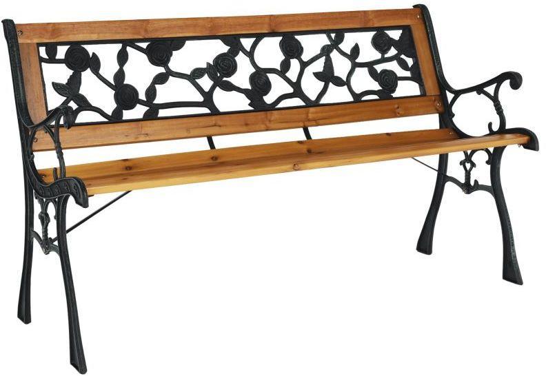 Kondela Záhradná lavička, čierna/prírodná, FAIZA