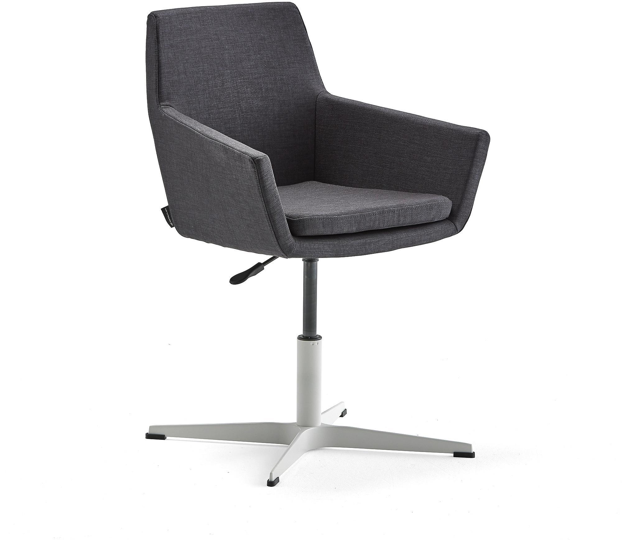 Konferenčná stolička Fairfield, biela, antracit