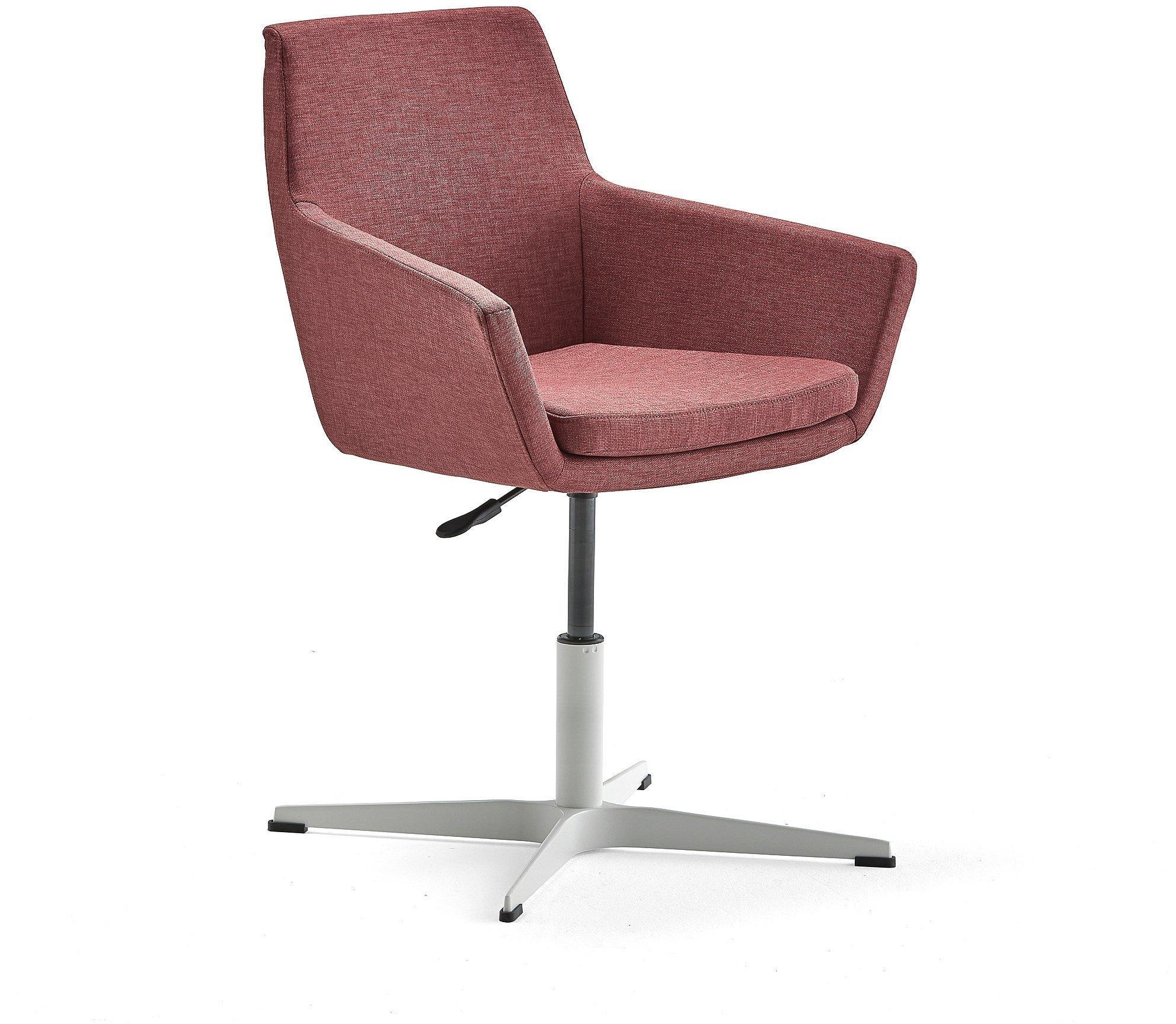 Konferenčná stolička Fairfield, biela, slivková