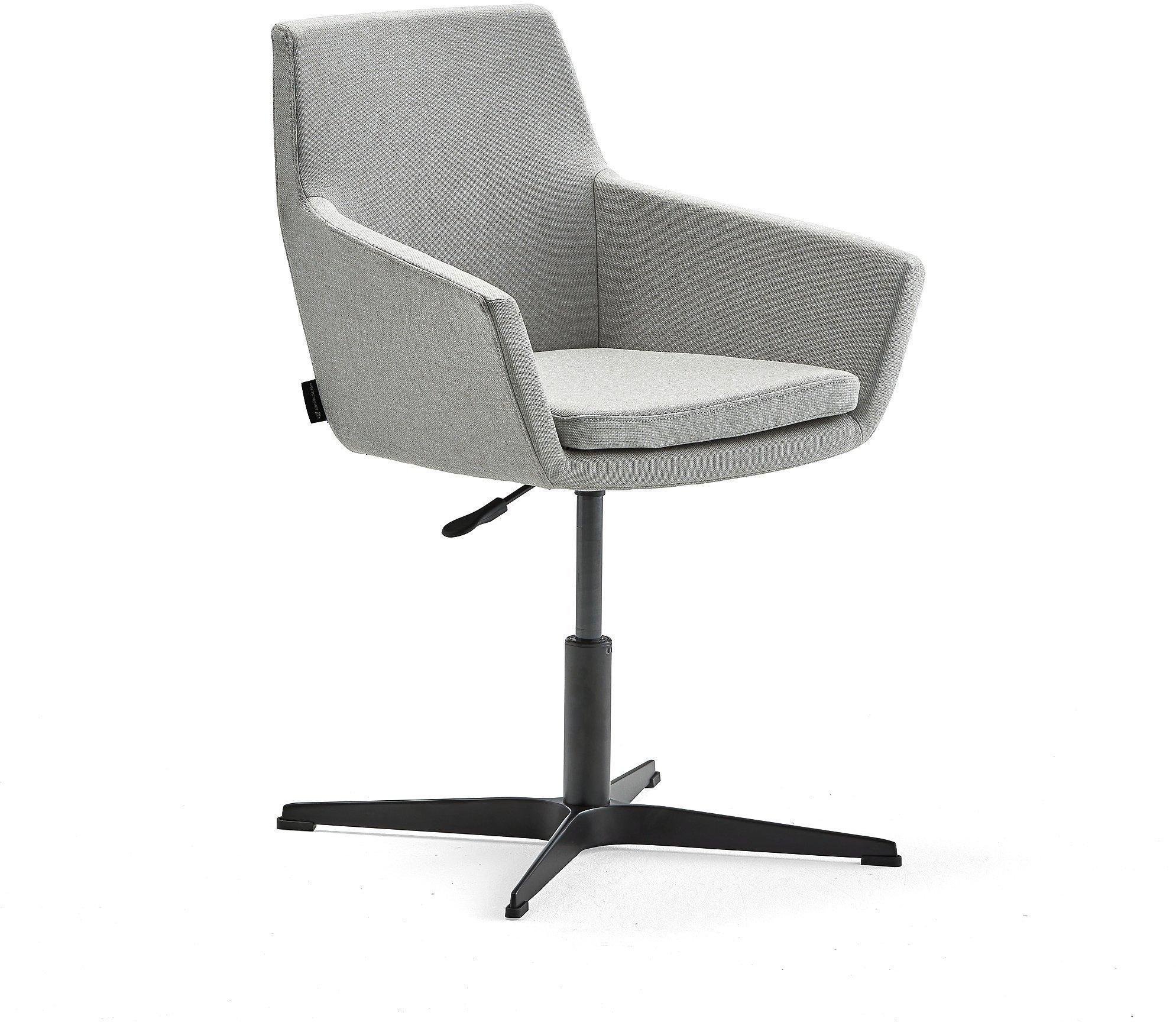 Konferenčná stolička Fairfield, čierna, striebornošedá