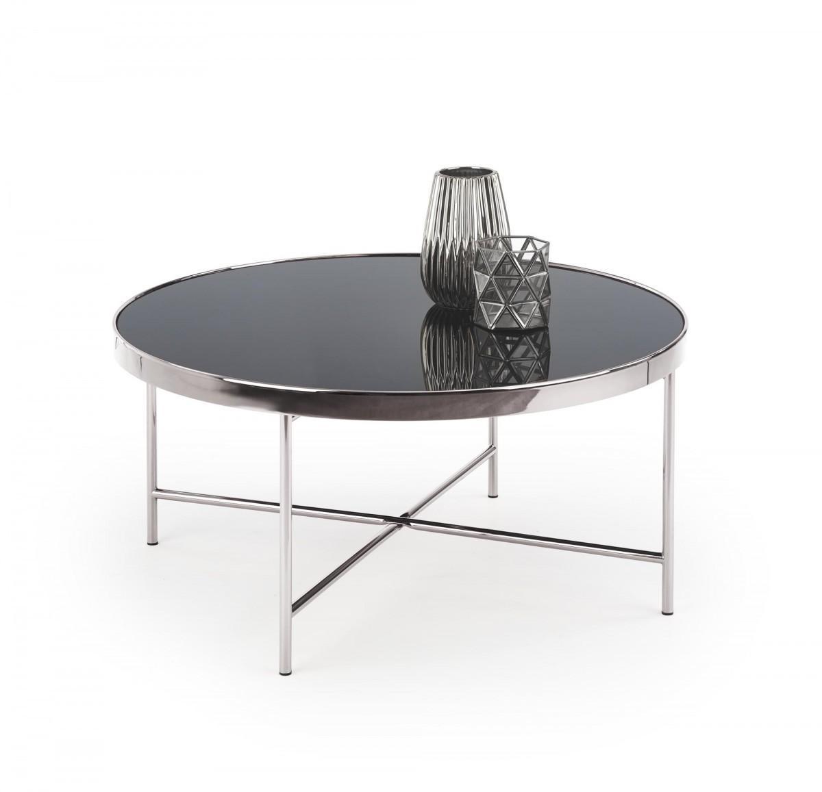 Konferenční stolek Moria chrom/černý