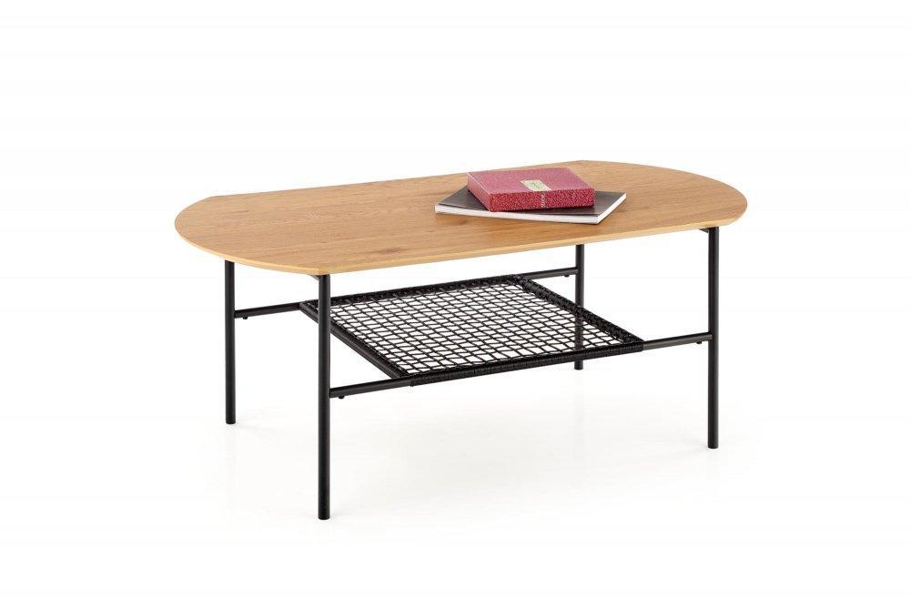 Konferenčný stolík JACKSONA dub zlatý / čierna Halmar