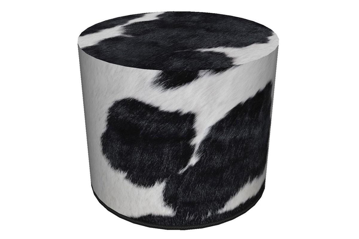 KONSIMO Taburet RASIL vzor kravská koža