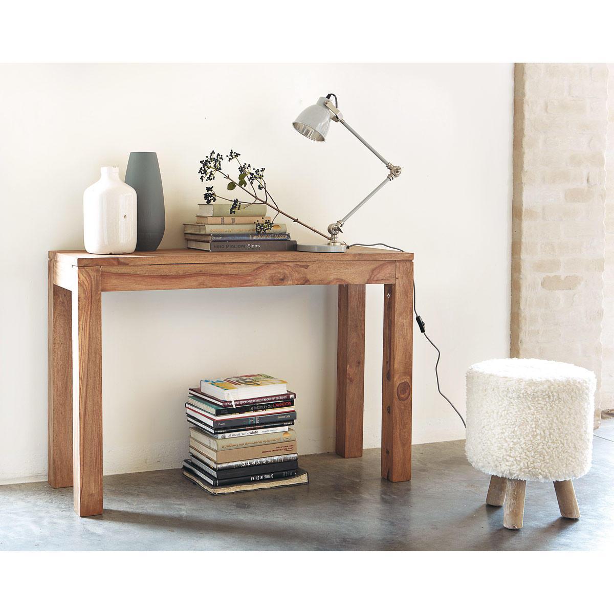 Konzolový stolík Gani 110x40x76 indický masív palisander - Super natural