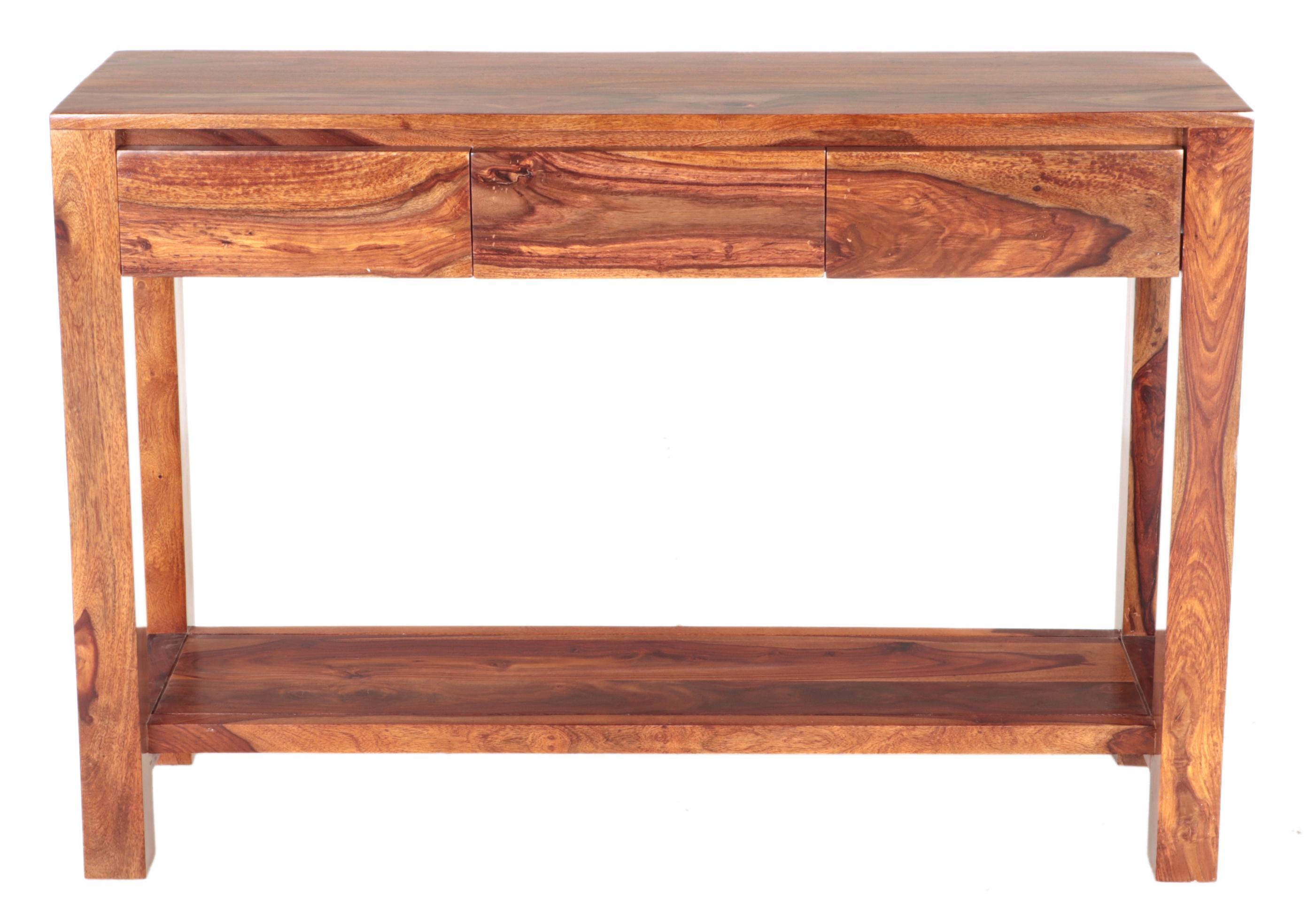 Konzolový stolík Gani 130x35x76 indický masív palisander - Svetlomedová