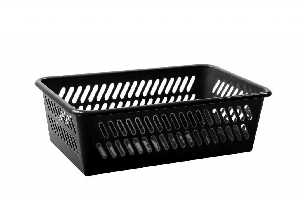 Košík čierny 25,4x15,9x7,7cm plastový