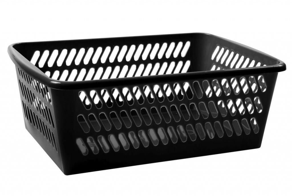 Košík čierny 30,5x20x11cm plastový