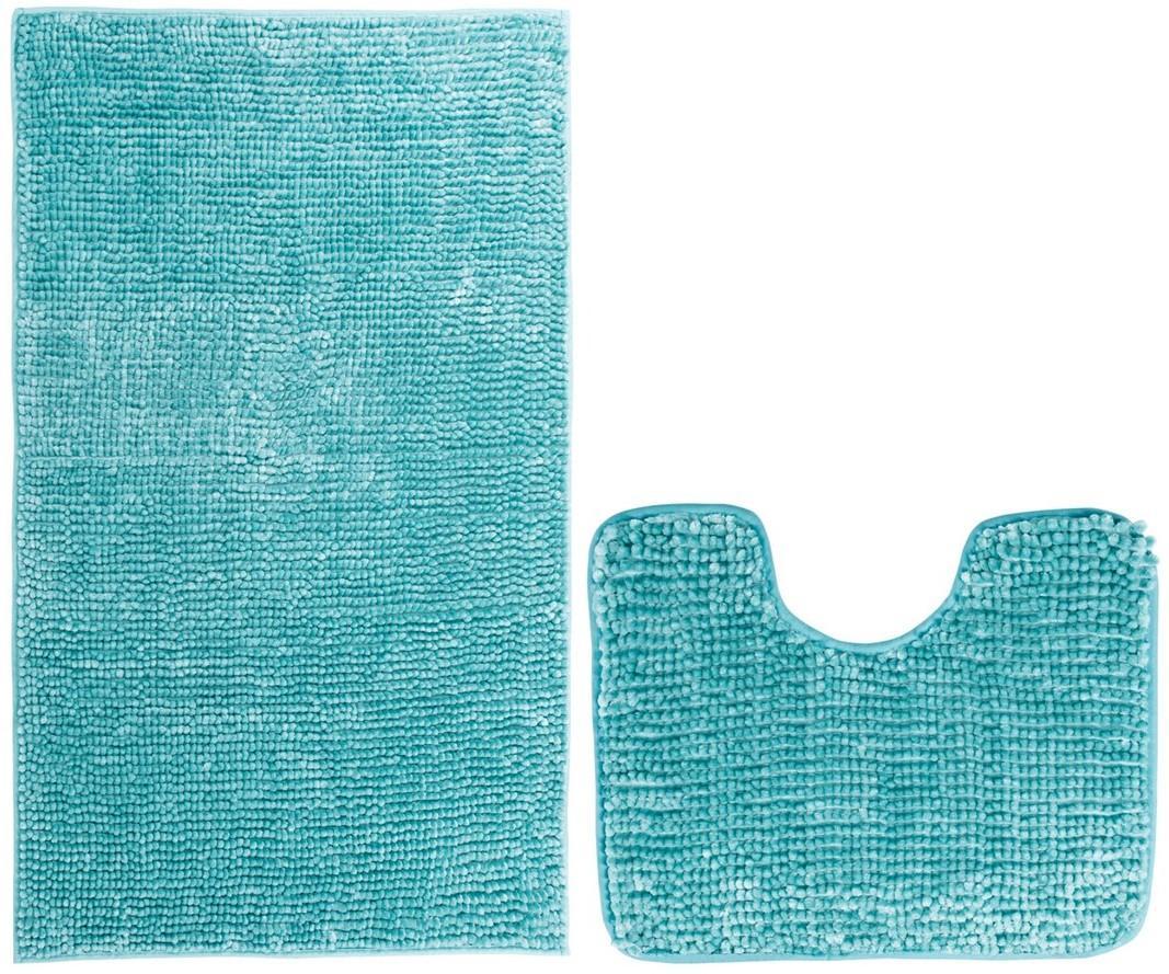 Koupelnová + WC předložka - sada 2 ks BORNEO, tyrkysová, 50x80 cm, 40x50 cm Mybesthome