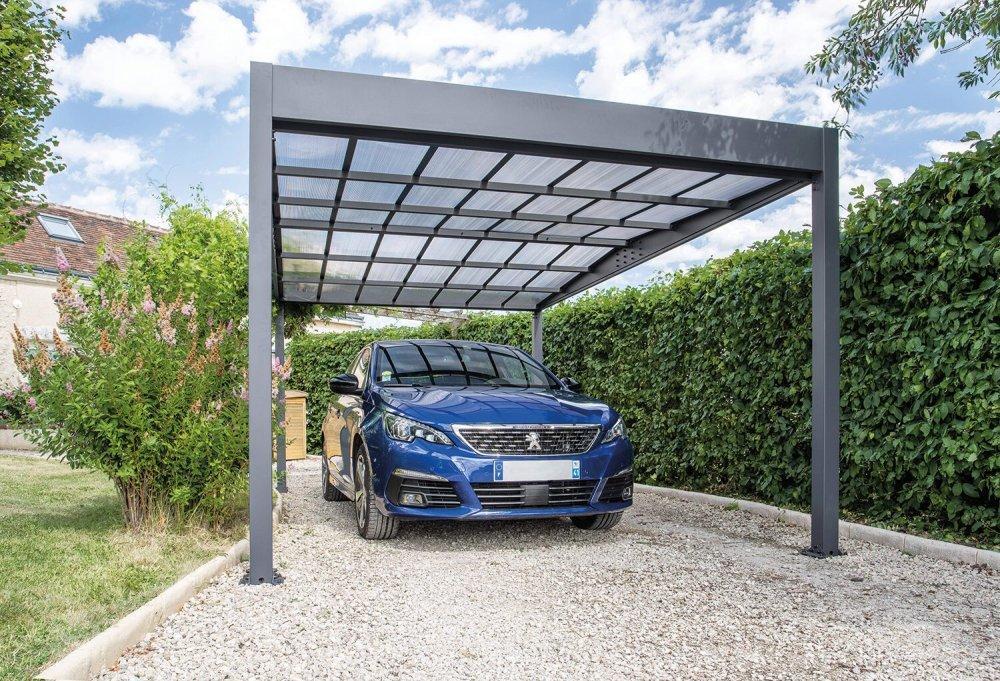 Kovový prístrešok / carport 316 x 502 cm Dekorhome