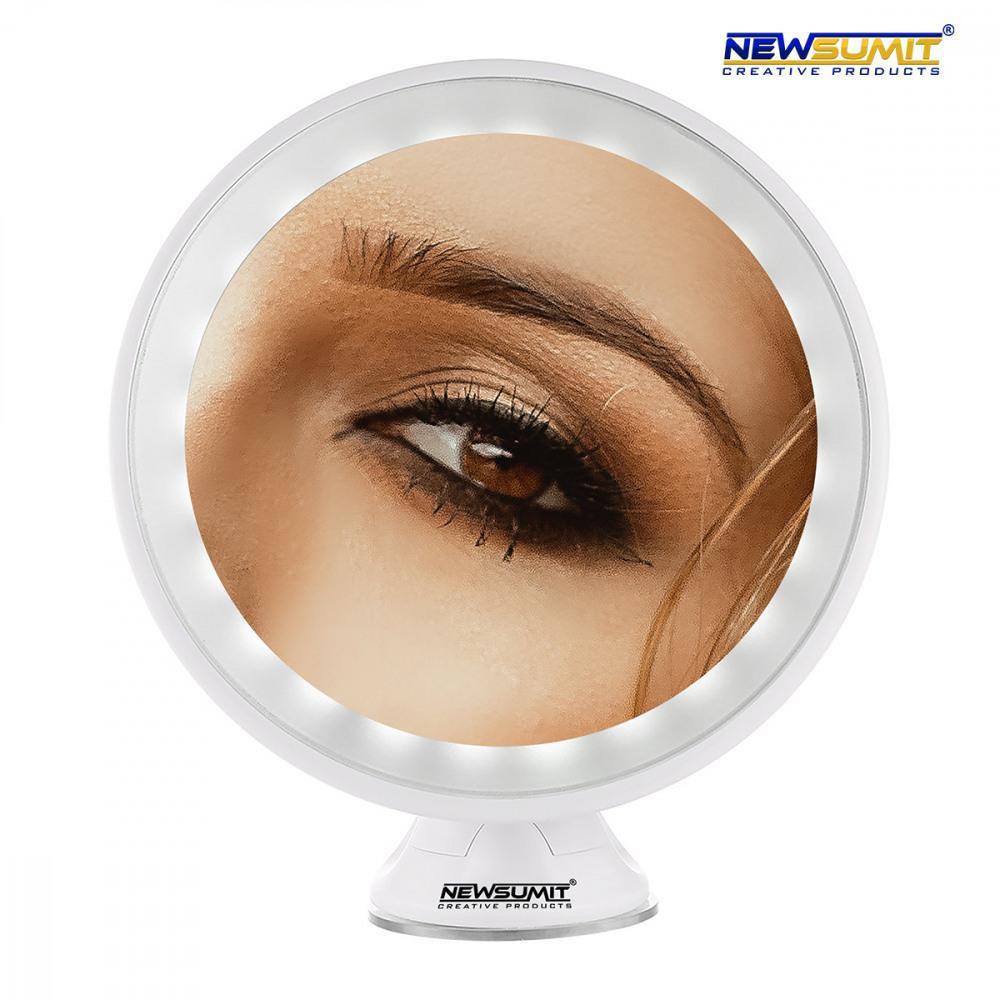 Kozmetické zrkadlo s LED podsvietením Newsumit 0239, biele