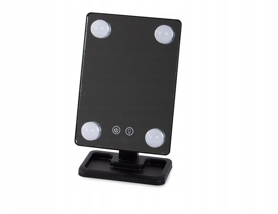 Kozmetické zrkadlo s LED svetlom VG5787, čierne