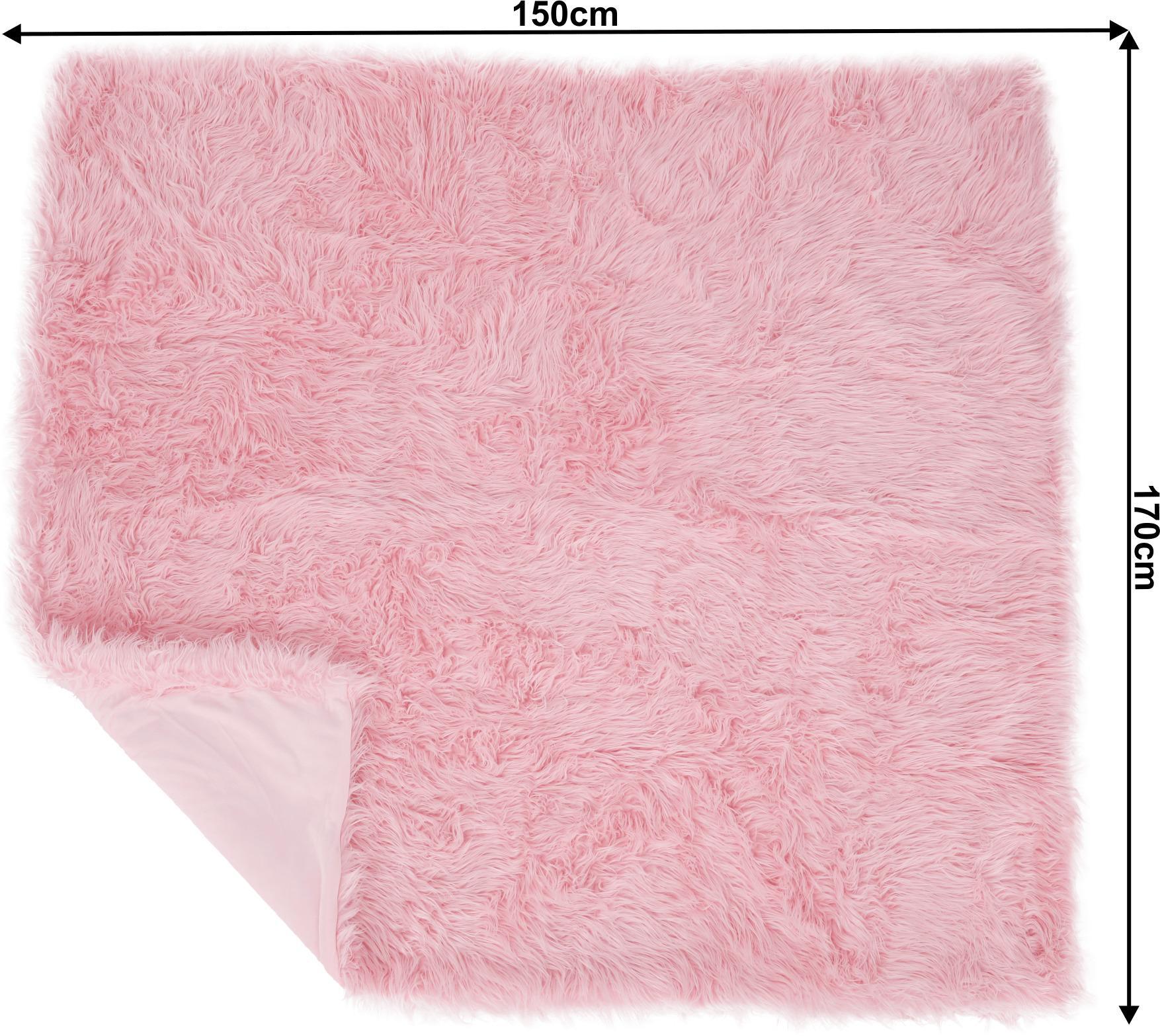 Kožušinová deka, ružová, 150x170, EBONA TYP 7
