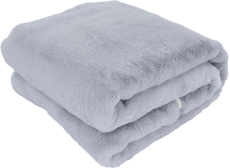 Kožušinová deka, svetlosivá, 150x180, RABITA NEW TYP 9