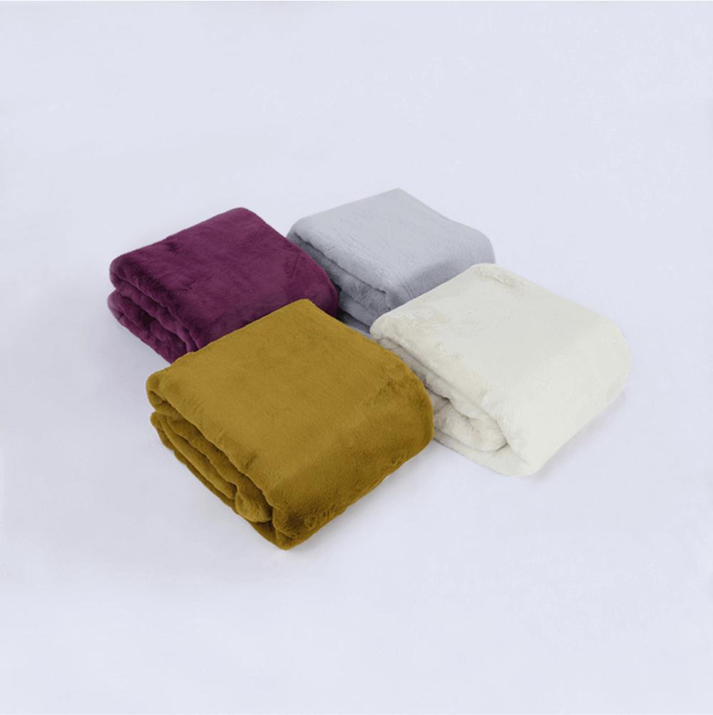 Kožušinová deka, zelená-greenery, 150x180, RABITA NEW TYP 8