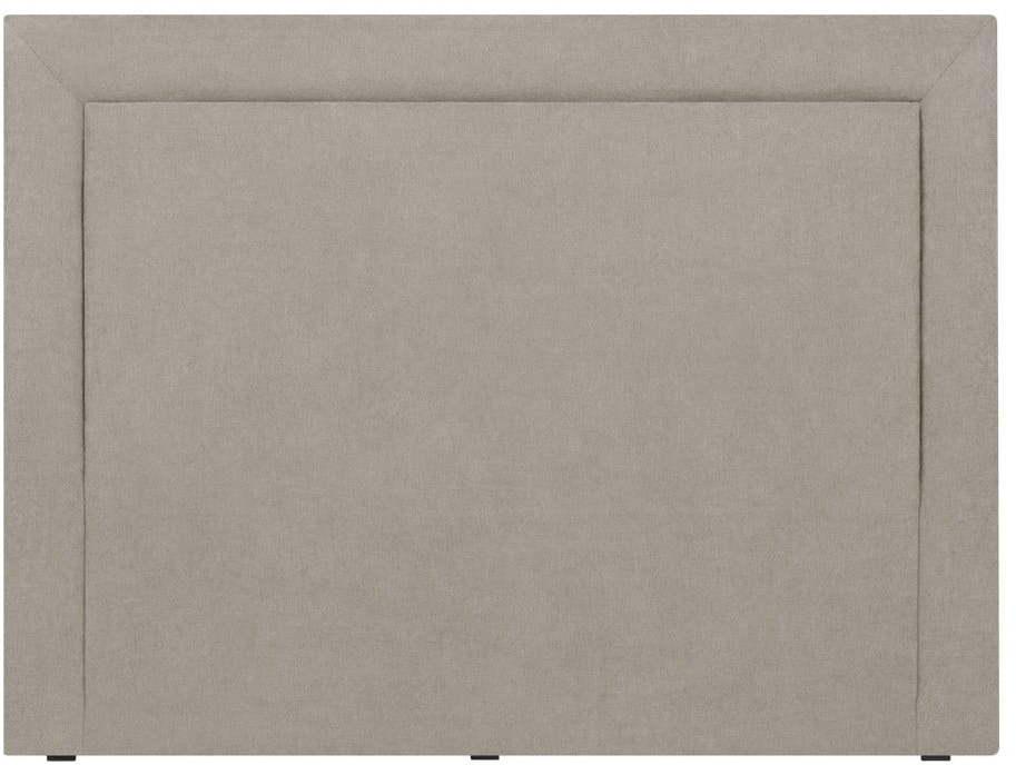 Krémové čelo postele Mazzini Sofas Ancona, 200 × 120 cm