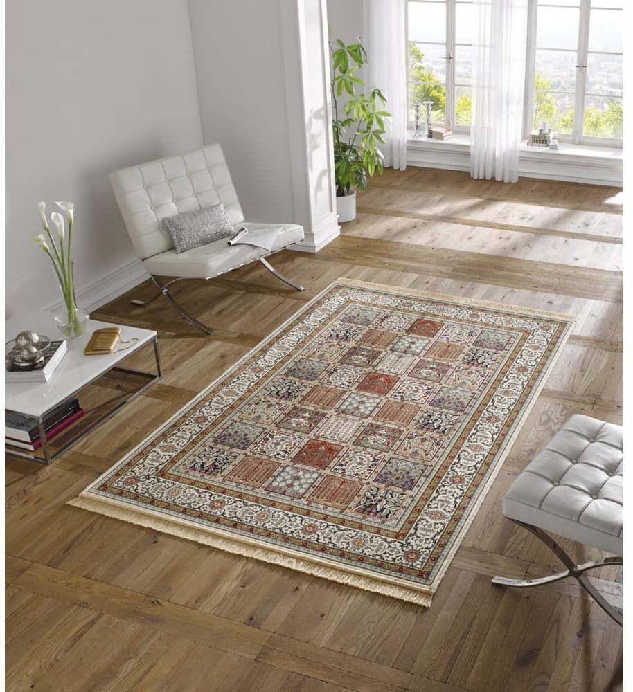 Krémovobiely koberec z viskózy Mint Rugs Precious, 70 x 140 cm