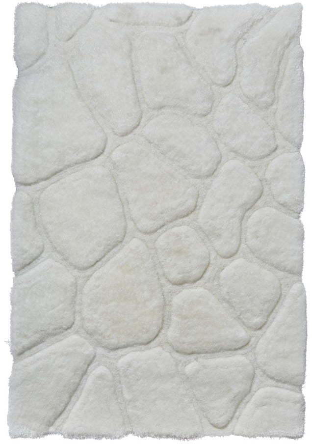 Krémovobiely ručne viazaný koberec Think Rugs Noble House, 120 × 170 cm