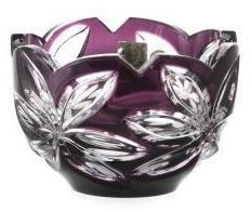 Krištáľová miska Linda, farba fialová, priemer 110 mm