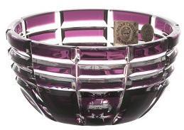 Krištáľová miska Nora, farba fialová, priemer 90 mm