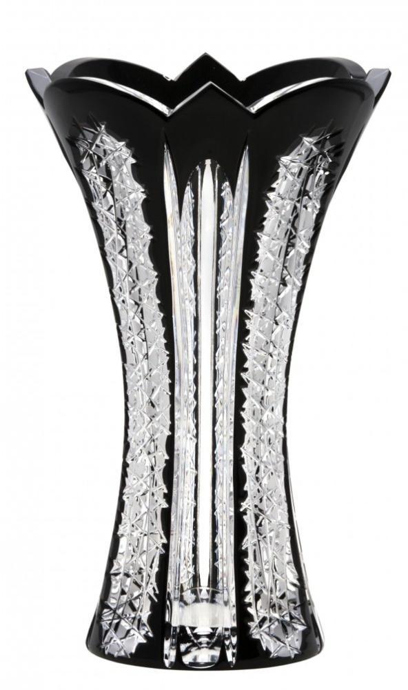 Krištáľová váza Frigus, farba čierna, výška 255 mm