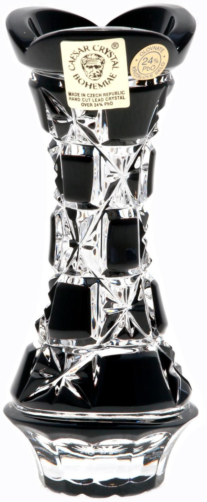 Krištáľová váza Lada, farba čierna, výška 104 mm