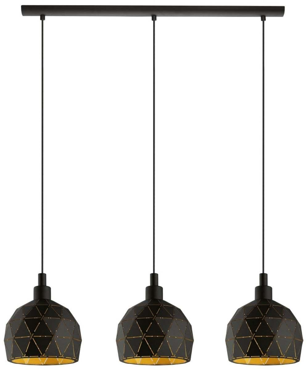 Kuchynské svietidlo EGLO ROCCAFORTE čierna / zlatá 97846