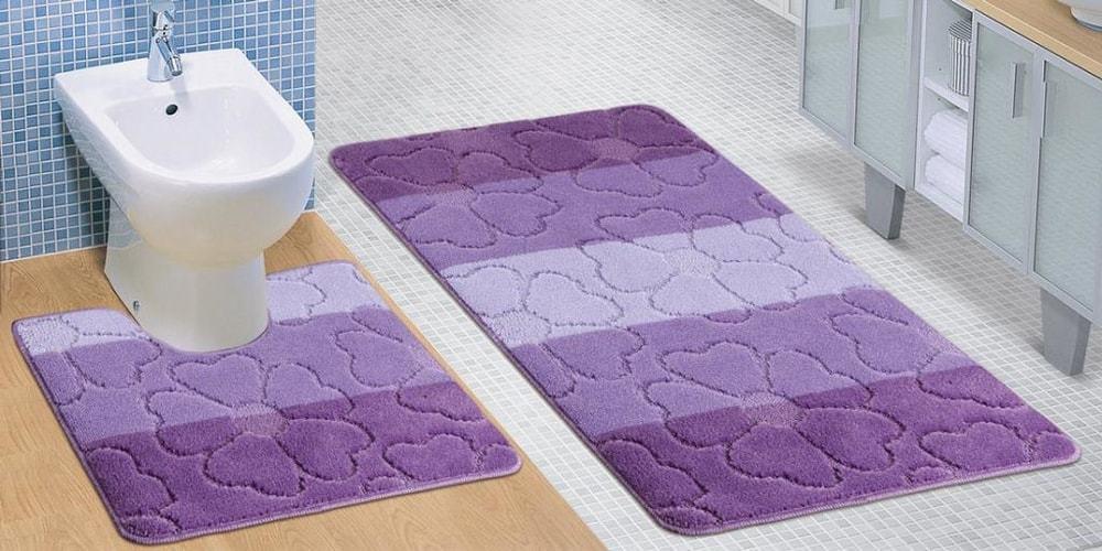 Kúpeľňová a WC predložka fialové kvety