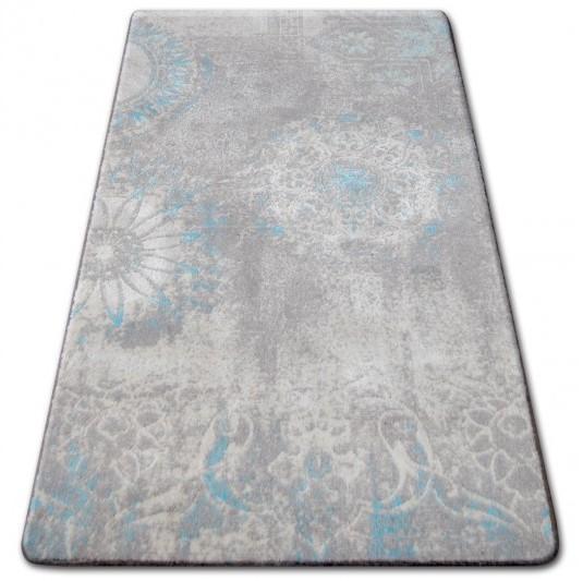 Kusový koberec AKRYLOVÝ PATARA 0129 L.Sand/tyrkysový
