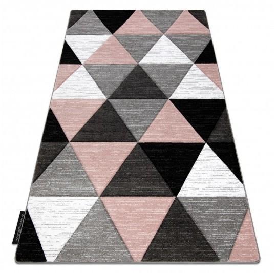 Kusový koberec ALTER Rino trojuholníky ružový