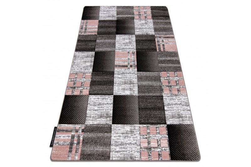 Kusový koberec ALTER Siena štvorce mriežka sivý