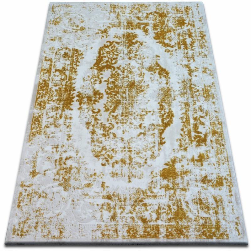 Kusový koberec BEYAZIT Hellia bielo-zlatý