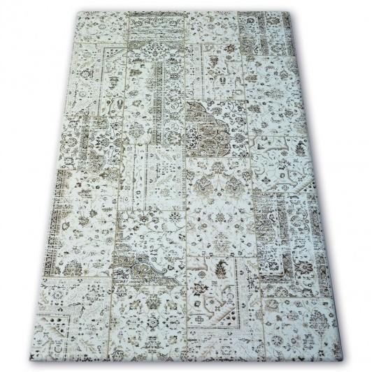 Kusový koberec Deniz Kerile sivý