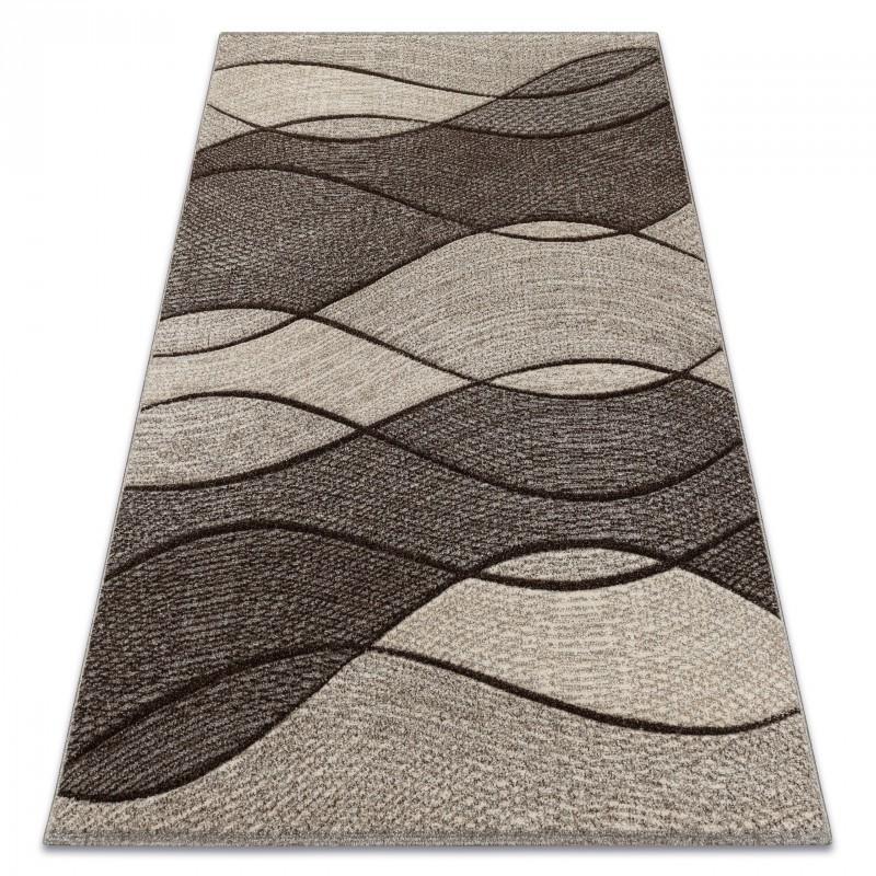 Kusový koberec FEEL Waves tmavobéžový