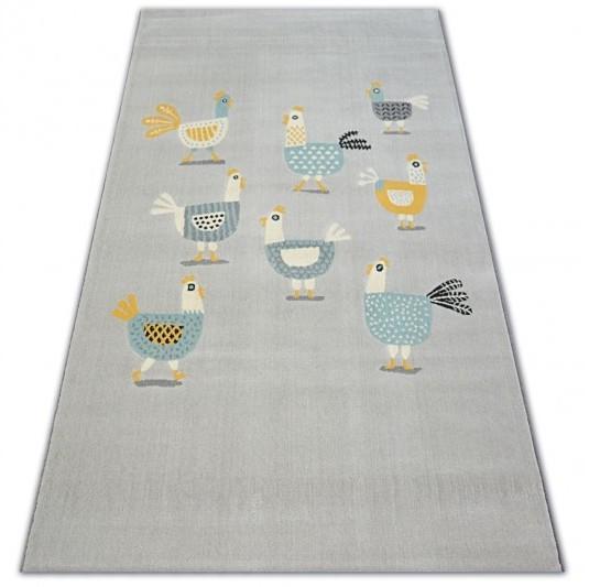 Kusový koberec PASTEL 18413/052 - kuřata / šedý tyrkysový