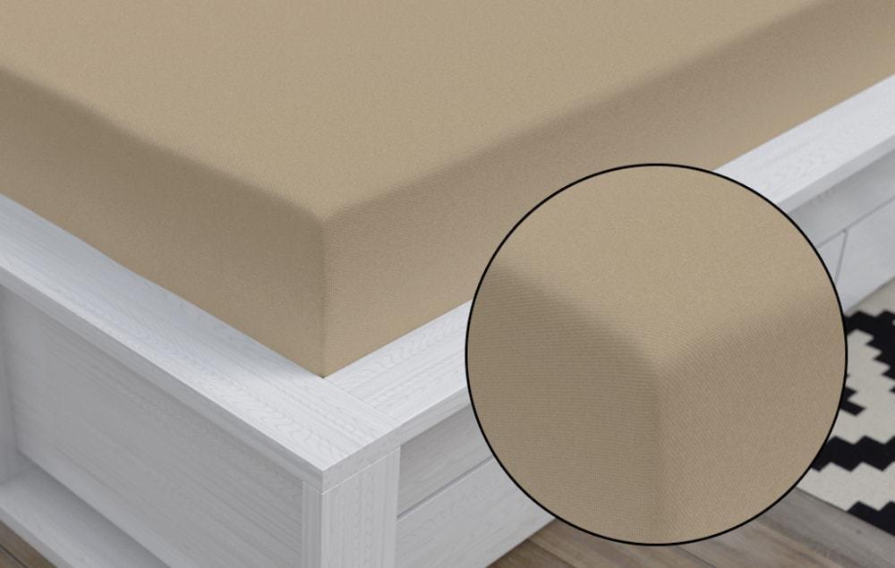 Kvalitex Jersey prestieradlo (80 x 200 cm) - svetlo béžové