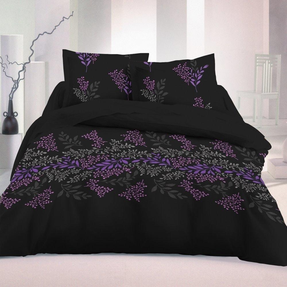 Kvalitex Saténové francúzske obliečky LUXURYCOLLECTION1+2, 240x200cm, 70x90cm Victoria čierna