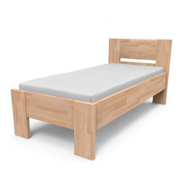 Kvalitná posteľ z masívu NIKOLETA s plným čelom Veľkosť: 200 x 120 cm, Materiál: BUK morenie čerešňa