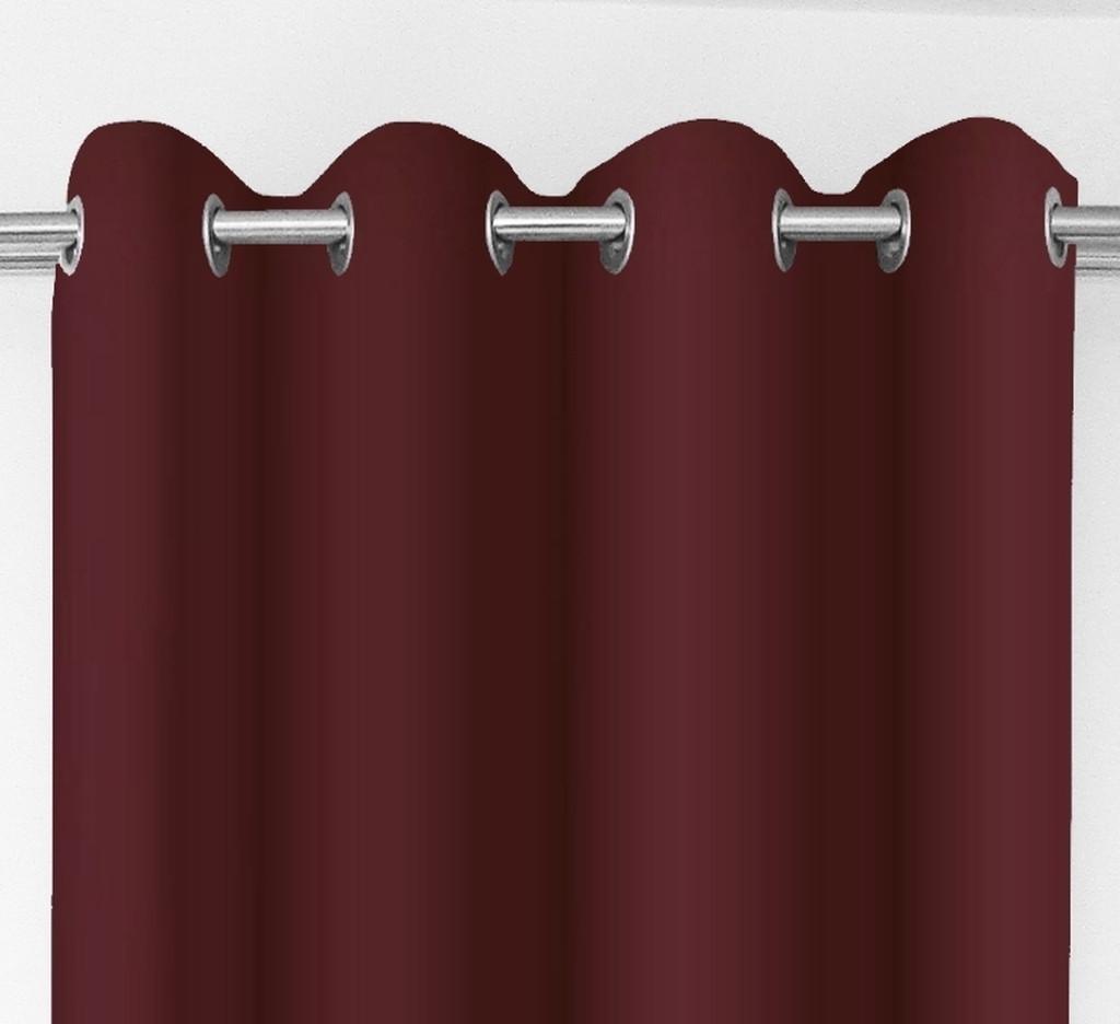 Kvalitné dekoračné závesy bordovej farby