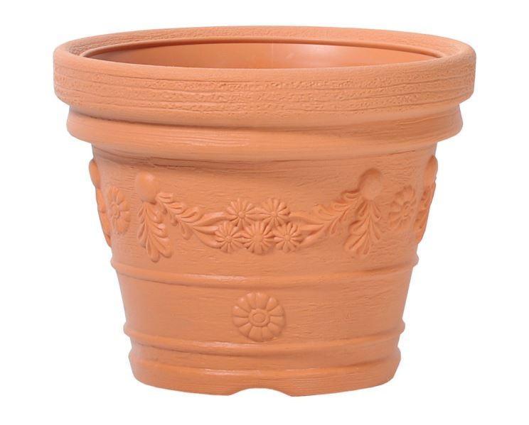 Kvetináč Decora Ancient oranžový