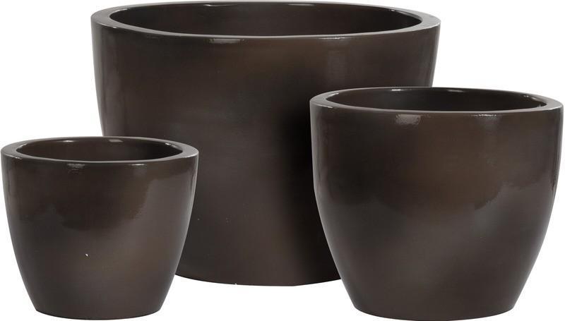Květináč keramika sada 3 ks