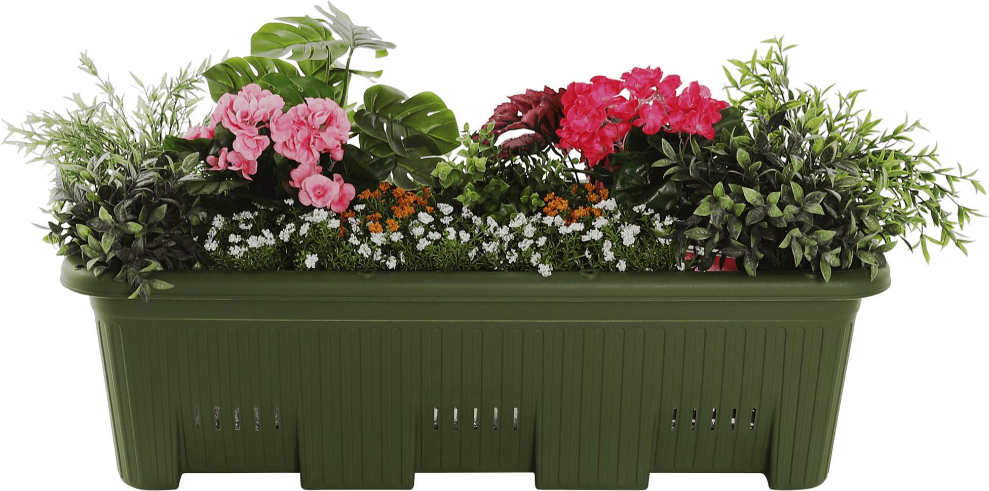 Kvetináč, plast, tmavozelená, LIDOF