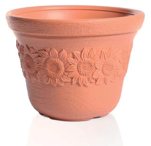 Kvetináč Sunny Flower oranžový