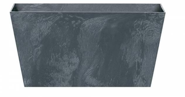 Kvetináč/truhlík TUBUS CASE BETON EFFECT, 40 x 21,6 cm, výška 20 cm, antracit